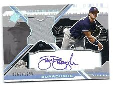 Sean Burroughs 2003 UD SPx Young Stars Auto Jersey Cd # YS-SB,665/1295