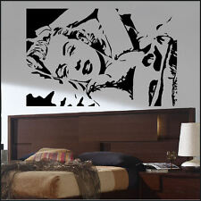 LARGE SEXY MARYLYN MONROE BED WALL ART MURAL STICKER POSTER TRANSFER VINYL DECAL