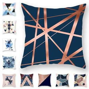 Abstract Geometric Polyester Throw Pillow Case Sofa Cushion Cover Home Decor