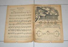 Spartito IL MANDOLINO 1917 ALBA GLORIOSA di Bianchi chitarra Liberty mandolin