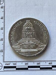 Münze 3 Mark-Silber-Münze-Deutschland-Sachsen-1913 E-Völkerschlachtdenkmal TOP!