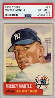 1953 Topps Baseball #82 Mickey Mantle PSA 6.5