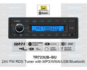 24 Volt Bluetooth LKW Radio RDS-Tuner MP3 WMA USB Truck & Bus 24V TR723UB-BU