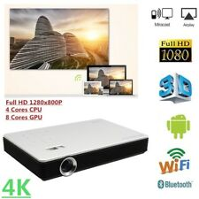 4K 3D DLP 7100 Lumens Android Full HD 1080P WIFI Home Theater Projector HDMI SD
