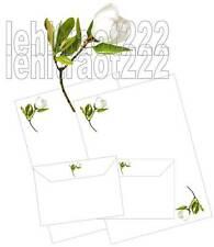 Magnolia Flower Letter Writing Paper & Envelopes Stationery Set