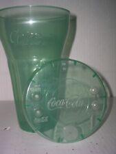 8 NEW Vintage 32oz.Plastic Coca-Cola Glasses W/Lids