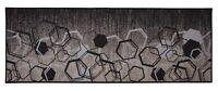 Antibacterial Custom Size Non Skid Hexagon Geometric Design Gray Runner Rug 26W