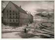 Suisse, hospice du Simplon Vintage print Photomécanique  21x27  Circa 1900