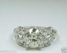 Antique Diamond Engagement Ring Platinum EGL USA Ring Size 6.25 Art Deco Vintage