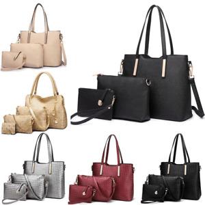 PU Leather Ladies Designer Shoulder Handbag 3pcs Celebrity Tote Bag Large
