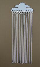 12 chaines argentées avec mousquetons dimension 45 cm-fca042