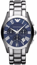 Emporio Armani Classic Watch Silver/Navy Blue Quartz Men's Watch AR1635