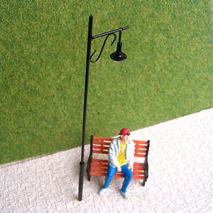 10 pcs O gauge Model Lampposts 12V Metal Street lights Higer Lamps #R34-O