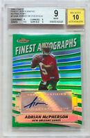 ADRIAN McPHERSON 2005 TOPPS FINEST AUTOGRAPH 10 ROOKIE CARD BCCG GRADED MINT 9