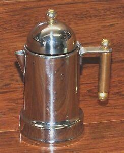 "BRA Inox 10/10 Silver Tone & Gold Tone 6"" Inch Creamer Container with Handle!"