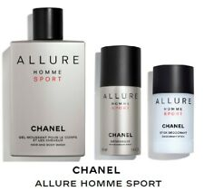 CHANEL ALLURE Homme Sport 3 Piece Set (Deo, Hair & Body Wash, Deo Spray), NEW