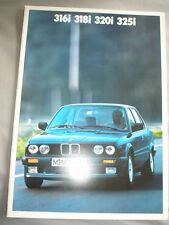 BMW 316i, 318i, 320i, 325i OPUSCOLO 1987 ed 2 TESTO TEDESCO