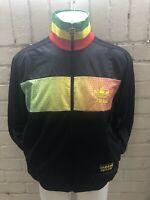Rare Adidas Chile 62 Track Top Black Jacket Size  M Rasta Jamaica