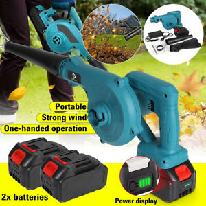 Cordless Electric Leaf Blower Home Computer Dust Vacuum Cleaner LED + Battery