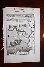 ✒ 1683 MANESSON MALLET iles de Jersey & Guernesey CARTE