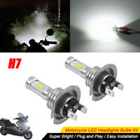 H7 Motorcycle LED Headlights Bulbs Kit High/Low Beam 35W 4000LM 6000K White
