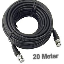 20m - BNC KABEL, 2 x Stecker, RG 59 U, 75 Ohm, Koax Schirmung, 20 Meter - NEU