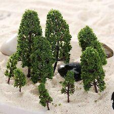 """20Pcs 2""""-4"""" Assorted Model Trees 1:100-300 HO N Z Scale Wargame Garden Scenery"""