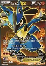 Pokemon Karte Lucario EX, Full Art, Fliegende Fäuste, 107/111