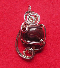 Hand Crafted Sterling Silver Pendant with Semi Precious Stone
