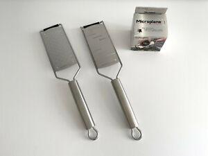 Microplane Professional Reibe Set 2-Wege Reibe + große Raspel + Fingerschutz