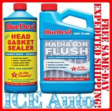 Blue Devil Head Gasket Sealer - 38386 (32 oz.) & Radiator Flush - 00204 (32 oz.)