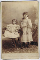CABINET CARD Photograph Victorian Children by Debenham & Gould of Bournemouth