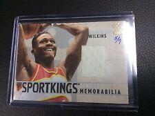 2015 Leaf Sportkings Vault Dominque Wilkins Game used Jersey /9 Hawks
