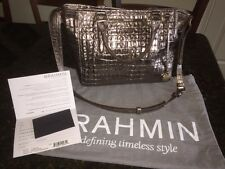 BRAHMIN MINI ARNO GRAPHITE LA SCALA LEATHER HANDBAG H15626GH
