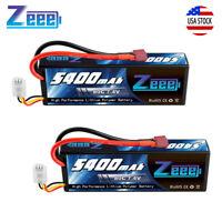 2pcs 5400mAh 80C 2S 7.4V Hardcase Deans Plug RC Lipo Battery for RC Car Truck