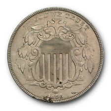 1866 With Rays Shield Nickel Uncirculated High End Mint State US Coin #6126