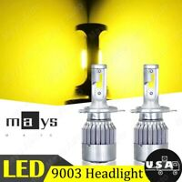 For Harley Softail Deuce FXSTD 00-07 2X 4000LM 36W H4 9003 LED Headlight Bulbs
