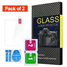 (Pack of 2) Screen Protector Tempered Glass for Panasonic Lumix Fz80 Fz82 Camera