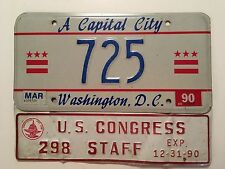 Low Number Washington DC District of Columbia License Plate 3-Digit US Congress