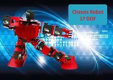CHASSIS ROBOT 17 DOF IN ALLUMINIO COLORI ROSSO, BLU E BIANCO ARDUINO COMPATIBILE