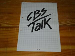 CBS TALK 10/85 / 7 PROMO-FACTS-BLÄTTER (DIN-A-4) NENA, COSA ROSA, ACE CATS.....