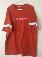 VTG 90's Classic Ralph Lauren Chaps Adult  Orange  Extremely Rare T-shirt EUC XL