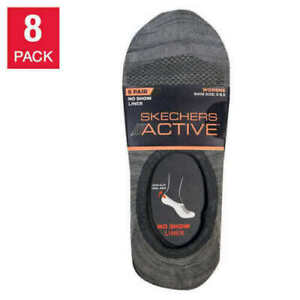 Skechers Active Women's No Show Non-Slip Liner Socks 8 Pairs