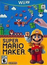 Super Mario Maker (Nintendo Wii U, 2015) GOOD - GAME ONLY