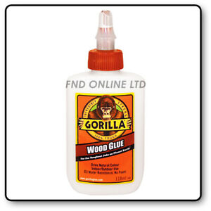 Gorilla Wood Glue   Water Resistant PVA Strong Fast Bond Non Foaming Adhesive