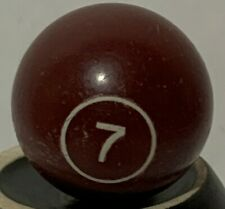 1972 MILTON BRADLEY PIVOT POOL GAME ORIGINAL REPLACEMENT BALL 7 BROWN SOLID