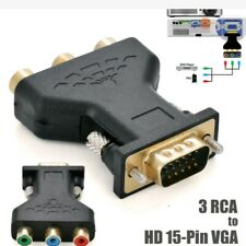 Lot of 6 pcs RCA RGB Female To HD 15-Pin VGA  Component Video Adapter Conventer