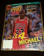 vintage NBA Inside Stuff Chicago Bulls Michael Jordan magazine NIP + posters