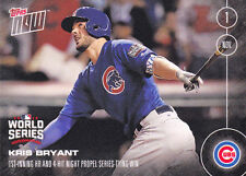 2016 Topps NOW 650 Kris Bryant Chicago Cubs World Series 1st Inning HR Limited