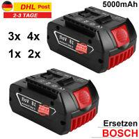 2X 4X Akku Bosch Ersatzen 18V 5000mAh Li-Ion BAT609 BAT618 BAT620 GBA GSA GSR Li